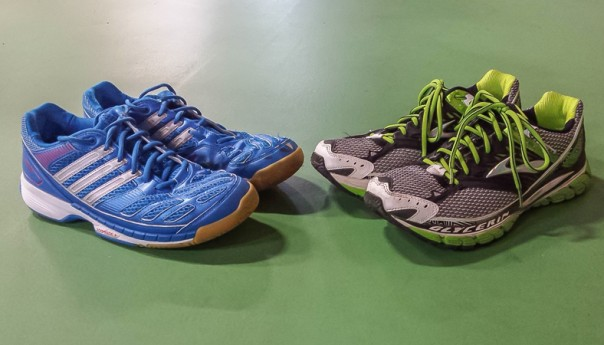 Running shoes vs Badminton shoes
